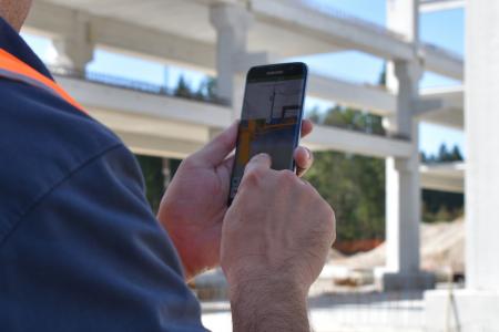 Uporaba rešitve za digitalno modeliranje objektov (BIM) na gradbišču